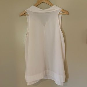 Rachel Zoe 100% Silk White Sleeveless Blouse 6